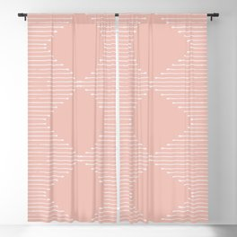 Geo / Blush Blackout Curtain