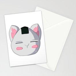 Onigiri cat pink Stationery Cards