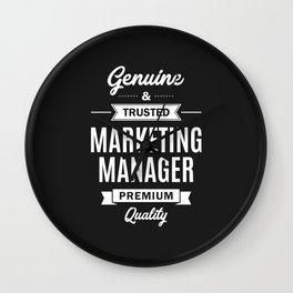 Marketing Manager Wall Clock