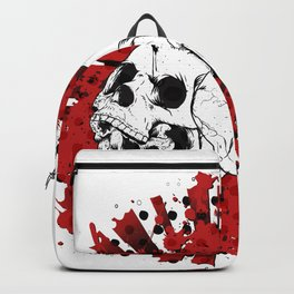 Grunge Screaming Skulls Backpack