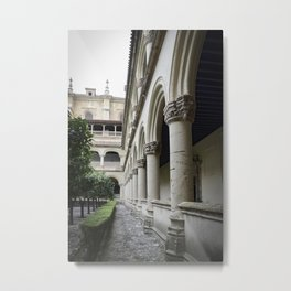 Spanish Cloister Patio Detail Metal Print