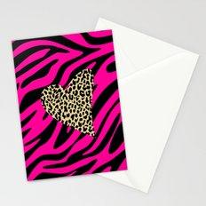 Leopard Zebra Love Stationery Cards