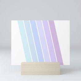 Pastel Stripes Mini Art Print