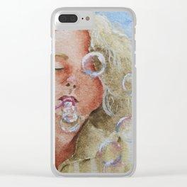 Jennifer Bubbles Clear iPhone Case