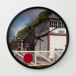 Darley Dale crossing - colour Wall Clock