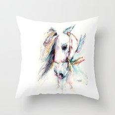 Fantasy white horse Throw Pillow