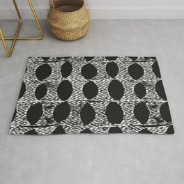 Arches Block Print in Black Rug