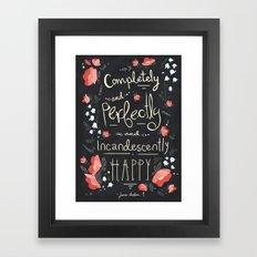 Austen Happy Framed Art Print
