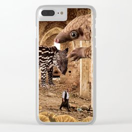 Mer Temple of the Tender Mystic Clear iPhone Case
