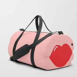 Lips (red on pink) Duffle Bag