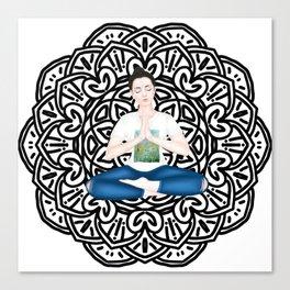 mandala. Serene casual Canvas Print