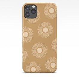Sun Pattern - Amber Gold iPhone Case