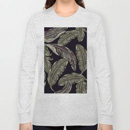 palm leaves black Long Sleeve T-shirt