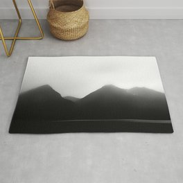 Foggy Mountains   Landscape Photography   B&W Art Prints   Misty Forest   Nature   Smokey Mountains Rug