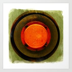 big red button Art Print