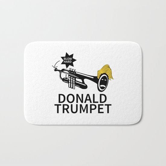 Donald Trump Trumpet Bath Mat