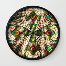 Flower Forest Abstract Wall Clock