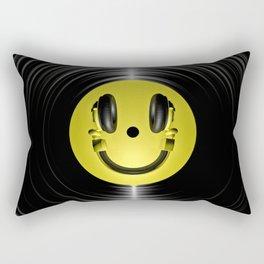 Vinyl headphone smiley Rectangular Pillow