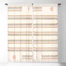 Minimal Geometric 115 Blackout Curtain