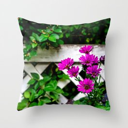 Flowers Make People Better Throw Pillow