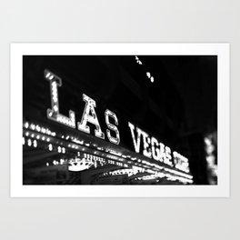 Vintage Las Vegas Sign - Black and White Photography Art Print