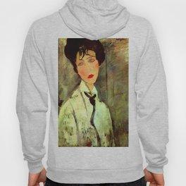 "Amedeo Modigliani ""Woman in Black Tie"" Hoody"