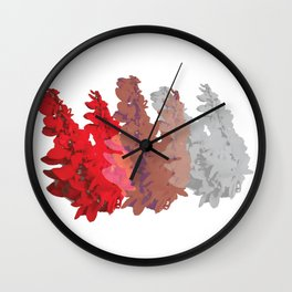 Chaconia Hedge Wall Clock