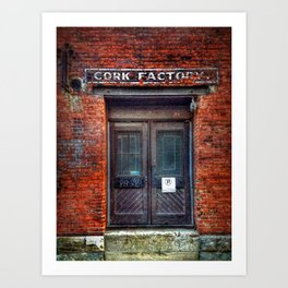 Fading Sign in Old Montreal Art Print