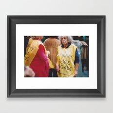 Granny Peace Brigade Framed Art Print