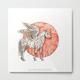 Spotted Pegasus Metal Print