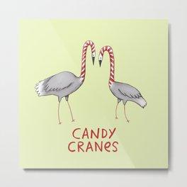 Candy Cranes Metal Print