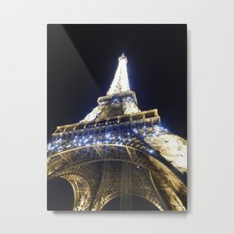 The Tower at Night 1 Metal Print