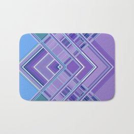 Purple Blue Aqua Multi Pattern Design Badematte
