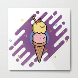 Ice Cream Fun Metal Print