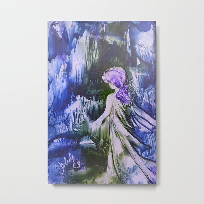 Lost Girl 2 - Blue Forest Metal Print