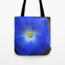 Blue, Heavenly Blue morning glory Tote Bag