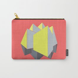 Abstract yellow and gray blocks in 2-point perspective Carry-All Pouch