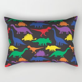 Dinosaurs - Black Rectangular Pillow