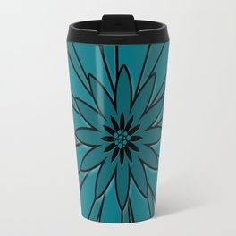 Blue flower . Travel Mug