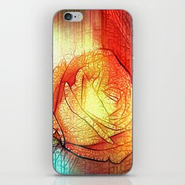 Misty Roses Of Orange And Blue By Annie Zeno iPhone Skin
