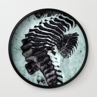 sea horse Wall Clocks featuring Sea Horse by Bella Blue Photography