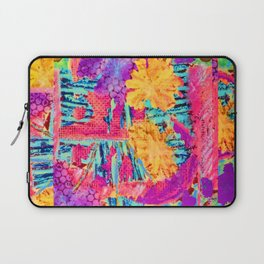 floral collagraph print Laptop Sleeve