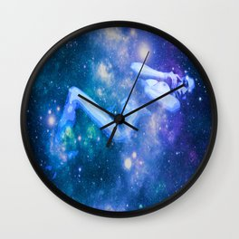 Blue Galaxy Woman : Nude Art Wall Clock