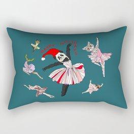 Hipster Holiday Ballerinas Rectangular Pillow