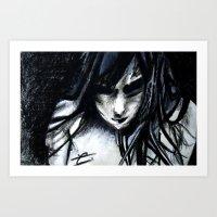 shameless Art Prints featuring shameless by Christelle Revellat