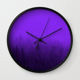 Purple Fog - 2 Wall Clock