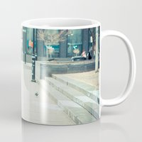 montreal Mugs featuring Montreal Taxi by Andy Wright