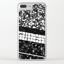Terrazzo Pattern Black & White #1 #texture #decor #art #society6 Clear iPhone Case
