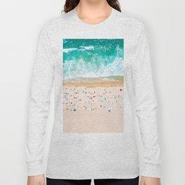 Drone shot of Manhattan beach Long Sleeve T-shirt