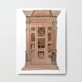 THE WARDROBE TO NARNIA Metal Print